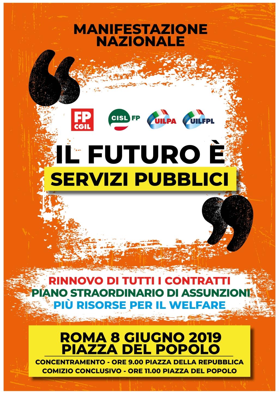 """""""Il Futuro è Servizi Pubblici"""", la Manifestazione unitaria del Pubblico Impiego"""