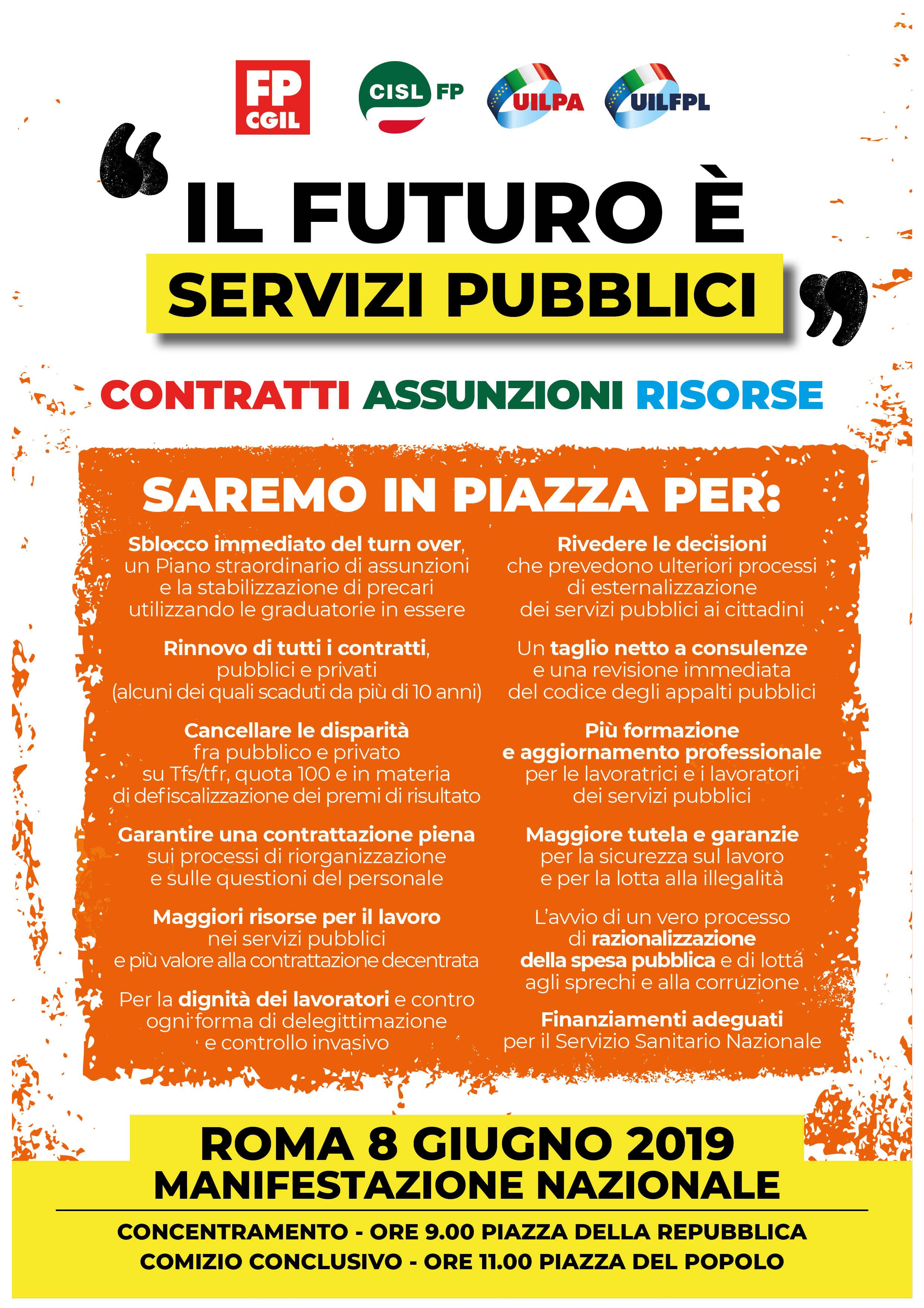 """""""IlFuturo è Servizi Pubblici"""", i motivi per cui saremo in Piazza"""