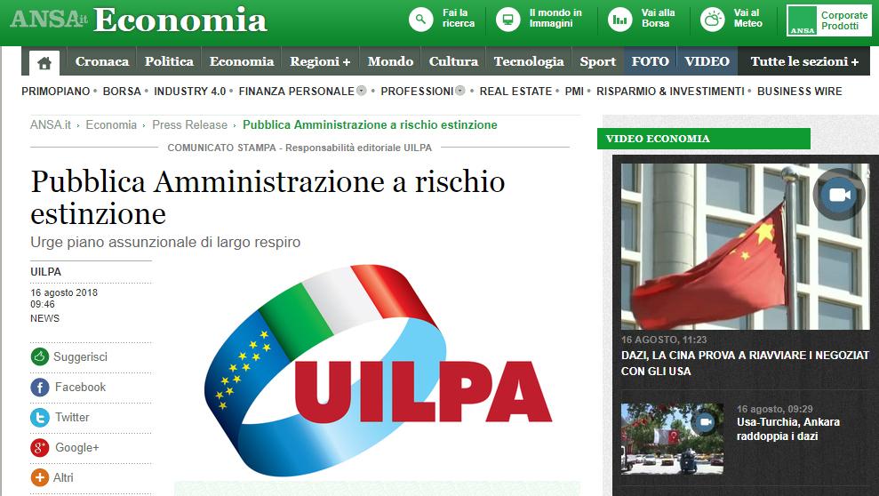 La UILPA non va in vacanza! Sulle agenzie di stampa di oggi le dichiarazioni del Segretario Generale Nicola Turco