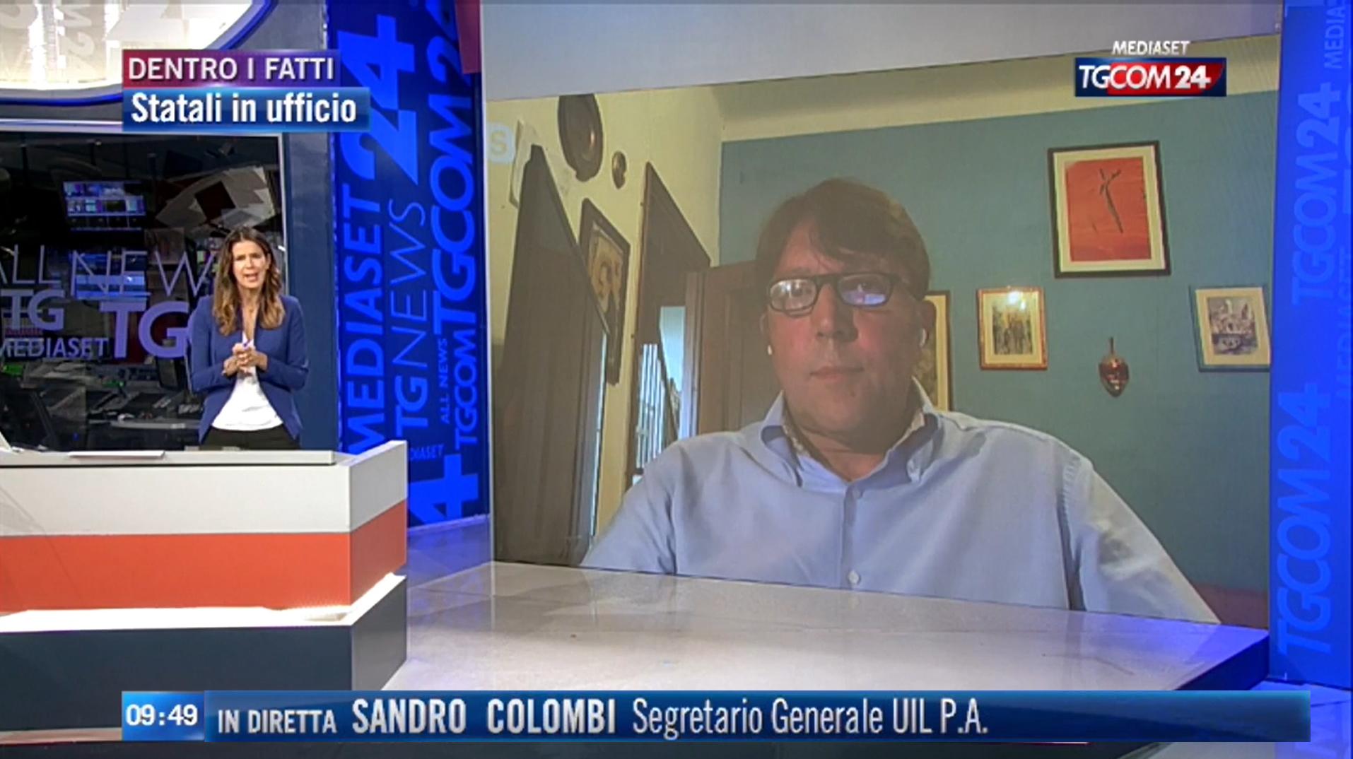 Statali in ufficio, intervista di Sandro Colombi al TGCOM24