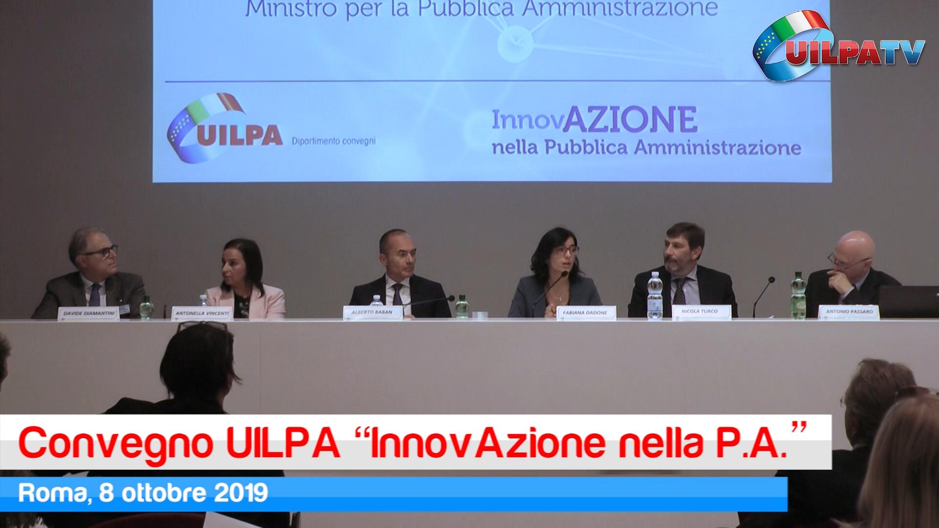 Convegno UILPA 'InnovAzione nella Pubblica Amministrazione', ecco il video servizio di UILPA Tv