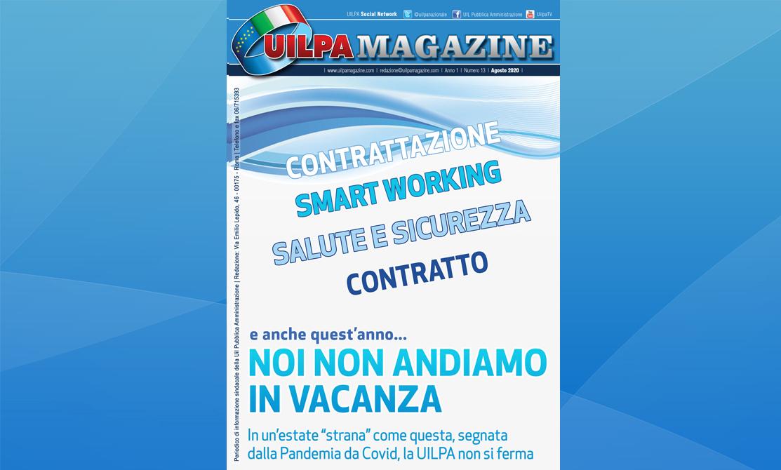 UILPA Magazine | 'Anche quest'anno… noi non andiamo in vacanza': sfoglia l'edizione agosto 2020 del nostro giornale