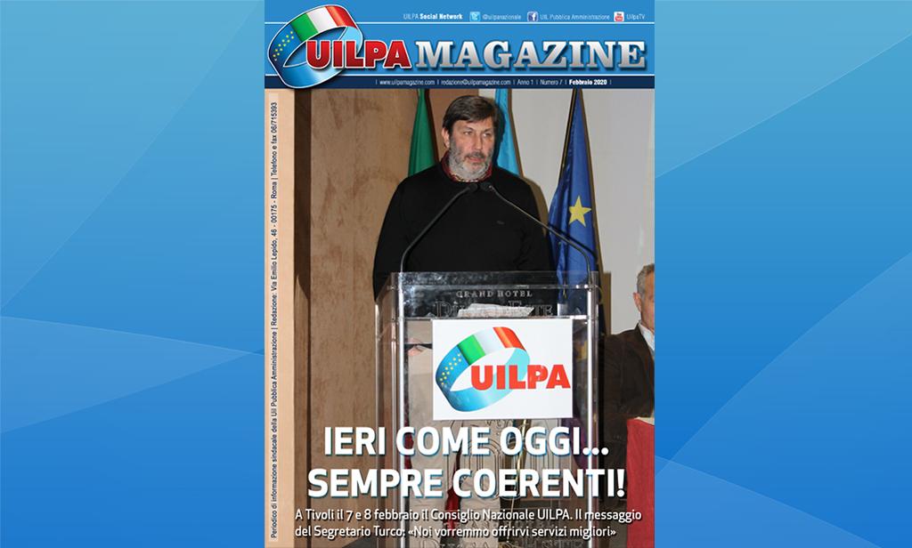 'Ieri come oggi... sempre coerenti': l'edizione febbraio 2020 di UILPA Magazine sul sito ufficiale