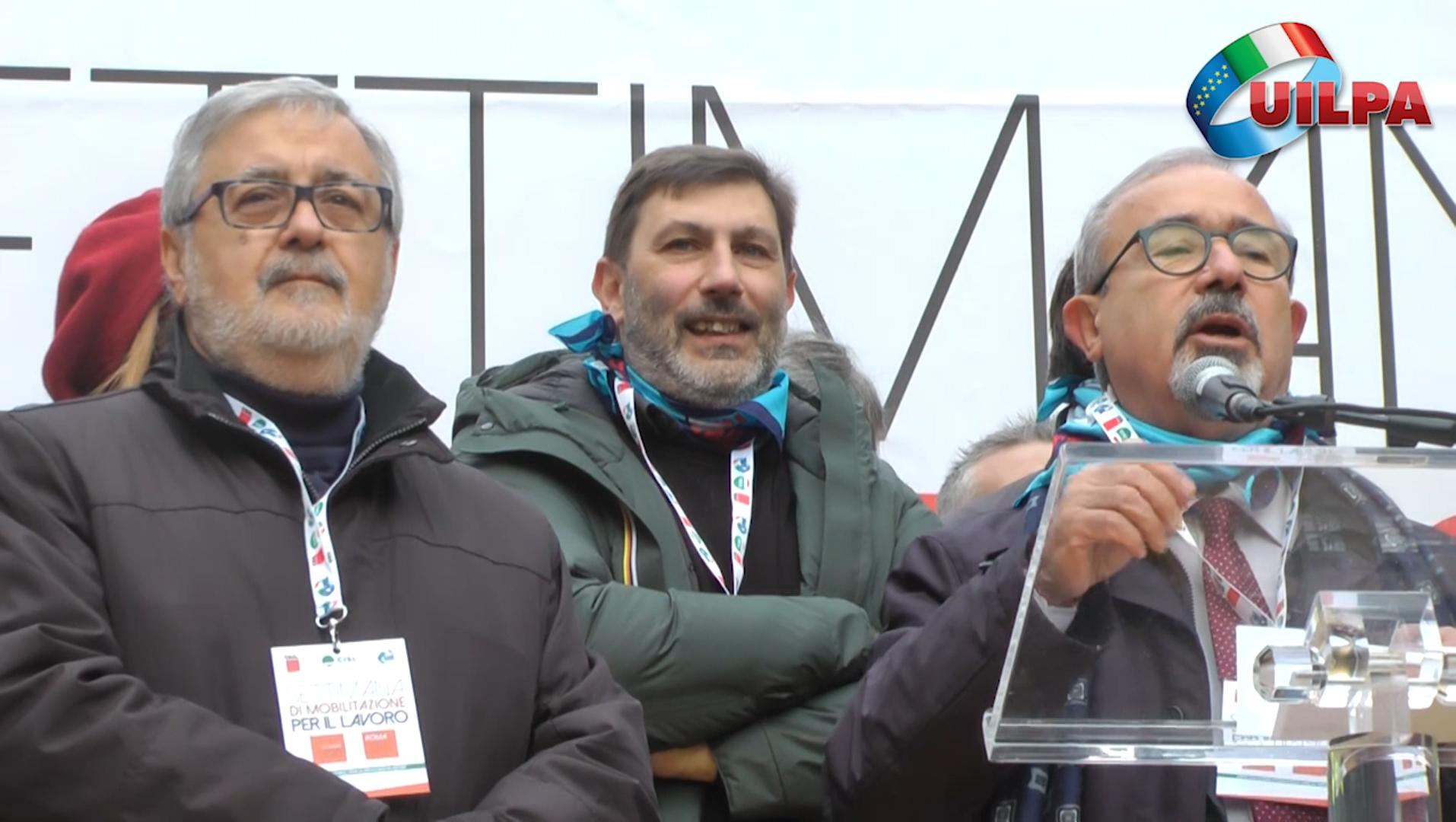 VIDEO | Mobilitazione unitaria per il lavoro, ecco il servizio UILPA della giornata in piazza Santi Apostoli