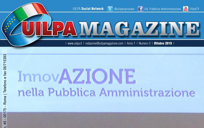 'Innovare la P.A.': ecco l'edizione ottobre 2019 di UILPA Magazine