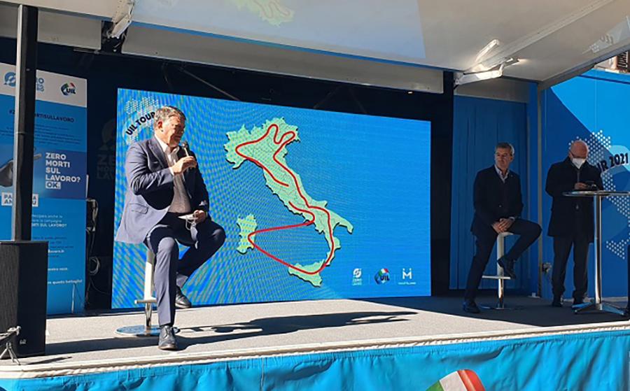 Uil in tour, Bombardieri: «Per noi l'impegno continua sui temi del lavoro e della sicurezza. Sempre insieme alle persone.»